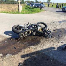Tragiška avarija Kretingos rajone: motociklininkas žuvo vietoje