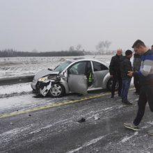 """Avarija """"Via Baltica"""" kelyje: viena vairuotoja – ligoninėje"""