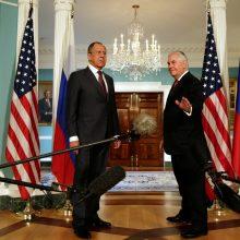 JAV valstybės sekretorius priėmė Rusijos UR ministrą S. Lavrovą