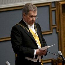 Suomijos prezidentas S. Niinisto prisaikdintas antrai kadencijai