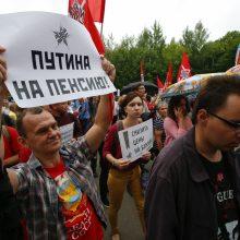Tūkstančiai rusų protestuoja prieš pensinio amžiaus ilginimą