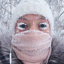 Rusijoje užfiksuotas 62 laipsnių šaltis: apšerkšnija net blakstienos