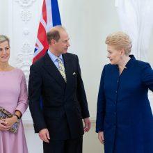 D. Grybauskaitė su britų princu kalbėjo ir apie Lietuvos okupaciją
