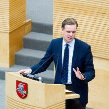 G. Landsbergis prašo premjero niekam nebekenkti