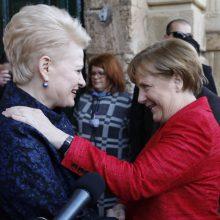 Kitą savaitę į Lietuvą atvyksta Vokietijos kanclerė A. Merkel