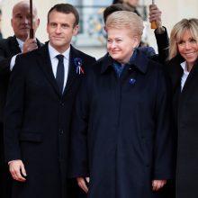 D. Grybauskaitė: žmonija privalo išmokti Pirmojo pasaulinio karo pamokas