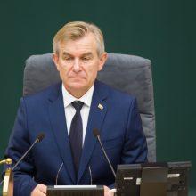 Seimo pirmininkas išvyksta į Rumuniją