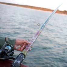 Žvejys tvenkinyje rado šautuvą