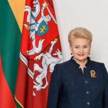 Prezidentė sveikina Lietuvą su atkurtos valstybės gimtadieniu