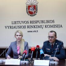 Policija ketina stiprinti savo pajėgumus rinkimų dieną