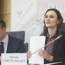 Liberalė V. Čmilytė-Nielsen išrinkta Seimo opozicijos lydere