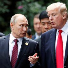 V. Putinas padėkojo D. Trumpui už pagalbą sužlugdant galimas atakas