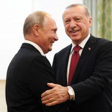Kremlius: V. Putinas ir R. T. Erdoganas Sočyje aptars Sirijos problemas