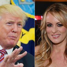 """Pornožvaigždė iškėlė bylą D. Trumpui dėl """"tylos susitarimo"""""""
