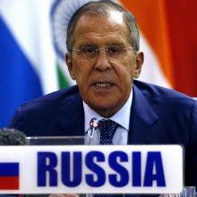 S. Lavrovas: Rusija kategoriškai atmeta JAV sankcijas