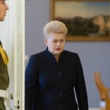 """D. Grybauskaitė: """"MG Baltic"""" ryšiai buvo matomi ir anksčiau"""
