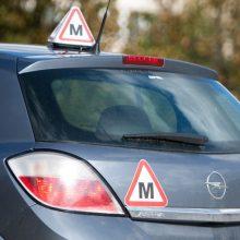 Mokomieji automobiliai gatvėse: įvardino kritines klaidas, lemiančias avarijas