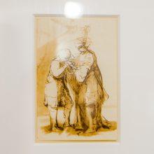 Kaune eksponuojami genijaus piešiniai, kuriuos sovietų kariai išmainė į degtinę