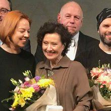 """N. Savičenko pagerbta už geriausią moters vaidmenį """"Rusiškame romane"""""""