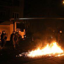 Graikijoje per riaušes sulaikyta daugiau kaip 100 žmonių