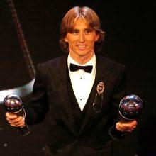 FIFA metų geriausiu futbolininku išrinktas ne C. Ronaldo – triumfavo L. Modričius