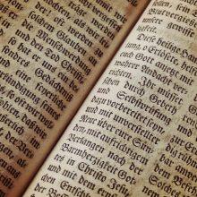 Vilniuje - unikali paroda: retos senosios biblijos