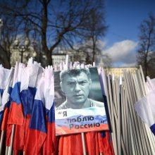 Prie Rusijos ambasados Kijeve atidarytas B. Nemcovo skveras