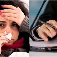 Gripu susirgęs darbuotojas įmonei kainuoja per 100 eurų papildomų išlaidų