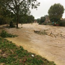 Potvyniai Prancūzijos pietvakariuose: staigių audrų aukų padaugėjo iki 13