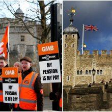 Nesutarimai Londone: Tauerio darbuotojai streikuoja dėl pensijų
