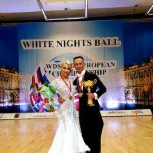 Šokėjai D. Vėželis ir L. Chatkevičiūtė – Europos čempionai