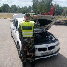 Prancūzijoje vogtą BMW teko palikti Lietuvos pasieniečiams