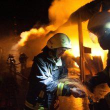 Netoli Rumšiškių visiškai sudegė namas
