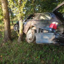 Jonavoje – girto BMW vairuotojo skrydis į medį