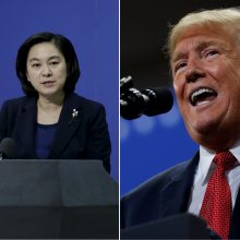 """Kinija neigia """"absurdiškus"""" JAV kaltinimus dėl kišimosi į rinkimus"""