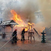 Lvovo Kalėdų mugėje nugriaudėjo sprogimas, yra sužeistųjų