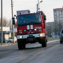 Gaisras Kupiškyje: atvira liepsna dega gamykla