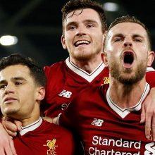 """Anglijoje – triuškinanti """"Liverpool"""" pergalė ir buksuojantis """"Tottenham Hotspur"""""""