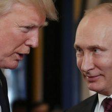 Naujametiniame laiške V. Putinas viliasi geresnių santykių su  D. Trumpu