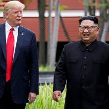 Apžvalgininkas: iš Kim Jong Uno D. Trumpas negavo beveik nieko