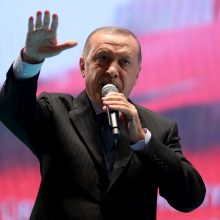 R. T. Erdoganas įspėjo JAV dėl grasinimo šaliai įvesti sankcijas