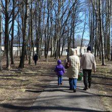 Panevėžyje už 2 mln. eurų atnaujinamas seniausias mieste parkas