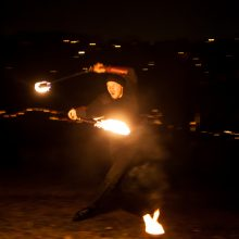 Nemuno saloje – erdvinė šviesos instaliacija