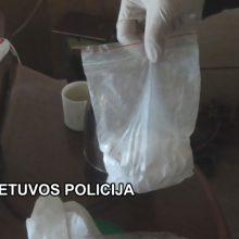 Sulaikyti dideliais kiekiais kokainu disponavę asmenys