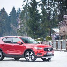 """Volvo XC40"" jau testuojamas ir Lietuvos gatvėse"