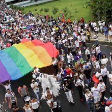 Čilėje vykusiajame gėjų parade raginta leisti tos pačios lyties asmenų santuoką