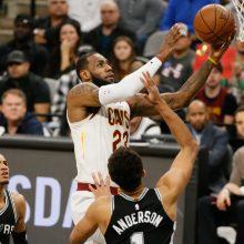 NBA: L. Jamesas pasiekė istorinę žymą