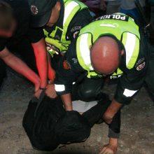 Kaune policininkams pasipriešino neblaivus nepilnametis