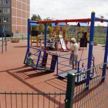 Atgimusiame parke – sūpynės neįgaliesiems