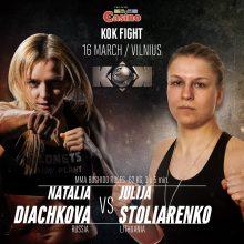 UFC šou sublizgėjusi J. Stoliarenko susikaus su Rusijos čempione